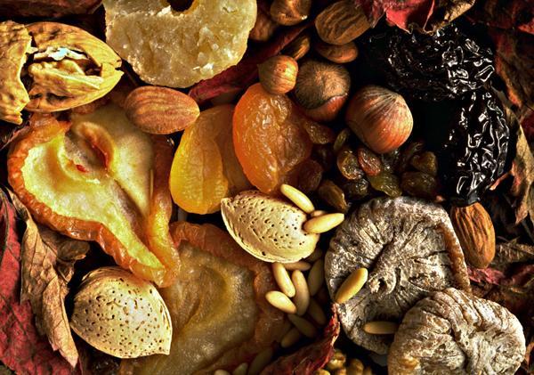 Орехи, сухофрукты и инжир...
