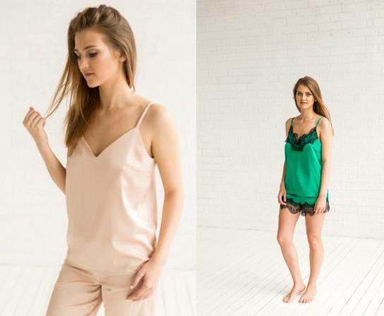 Шелковая женская пижама