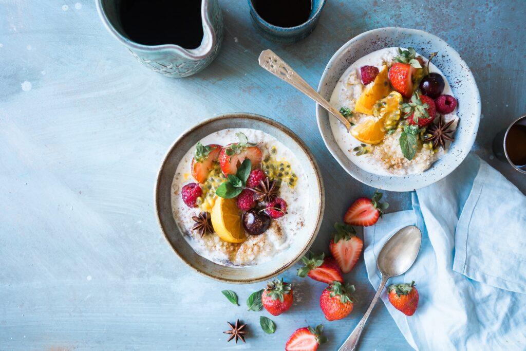 Правильное питание - каши с фруктами
