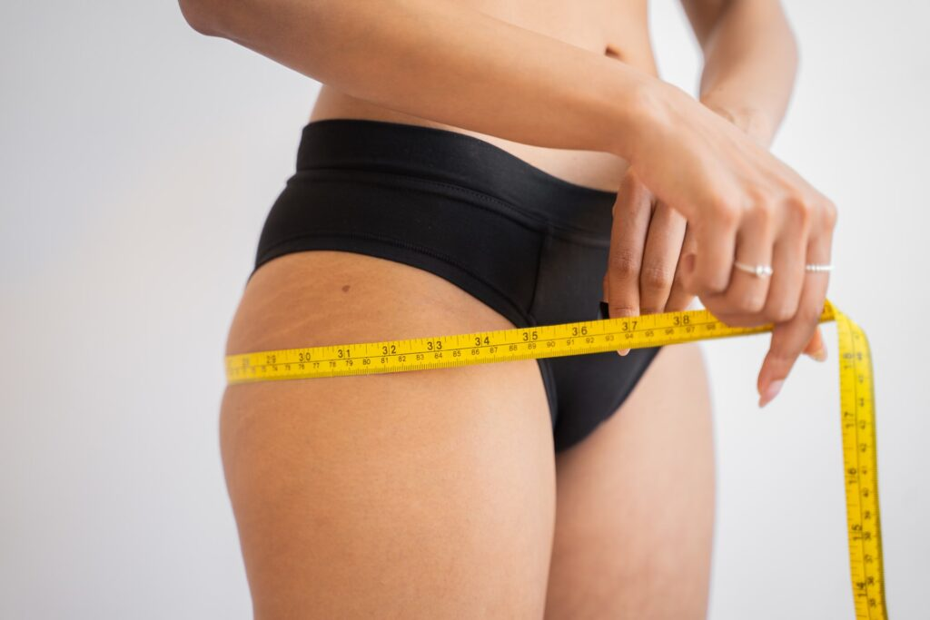 Измерение мышц бедер